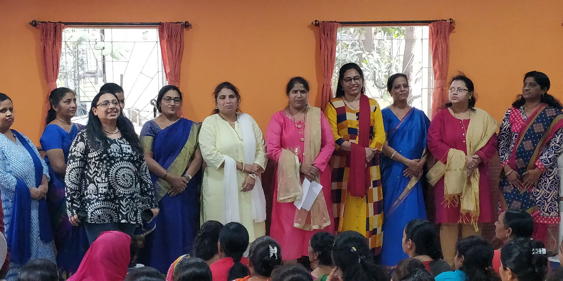 "(Conversational English Teacher- Tardeo Centre) Introducing the beneficiaries that sang ""I have a dream"". A lovely surprise they arranged for Ms. Minal Bajaj- who has fulfilled so many of their dreams and still continues to do so"