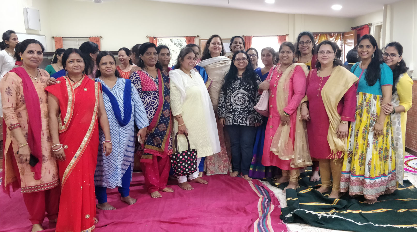 "The beneficiaries from Tardeo Centre who sang ""I have a dream"" posing with Ms. Minal Bajaj and teachers"