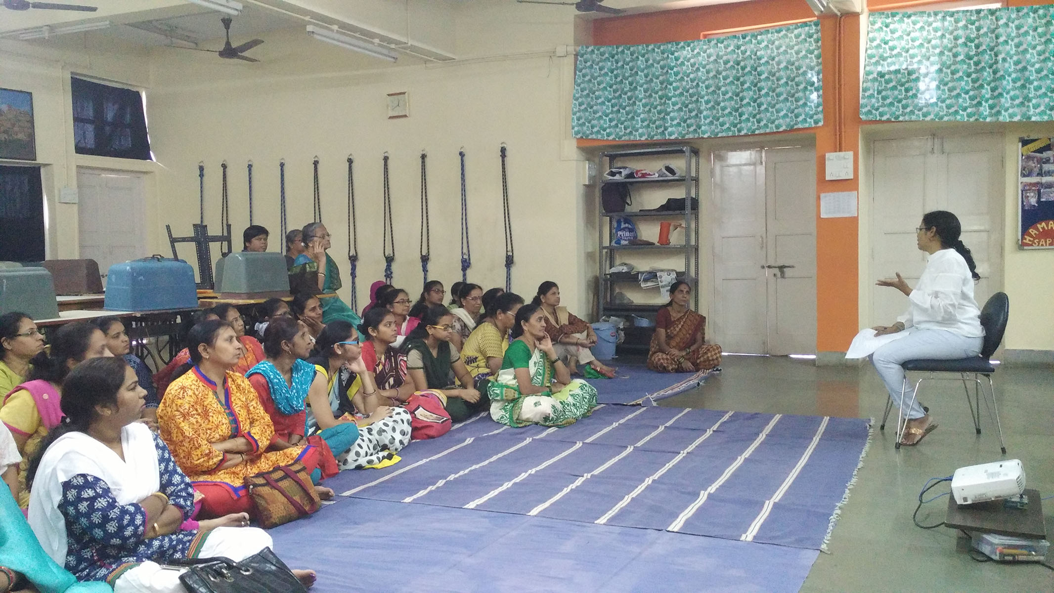 An interactive discussion with the women during the Chai Masti session