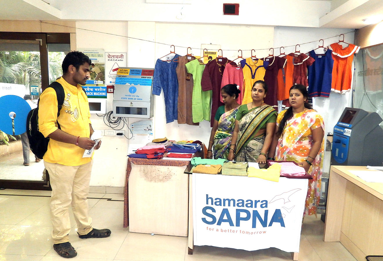 Entertaining clients and interacting with them is necessary - SBI Exhibition (November, 2015)
