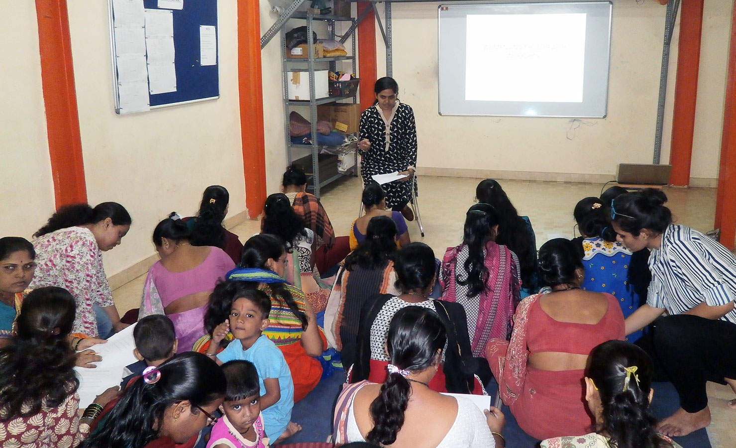 Dr. Riddhi Shah having a session on Mother and Child Health (September, 2016)
