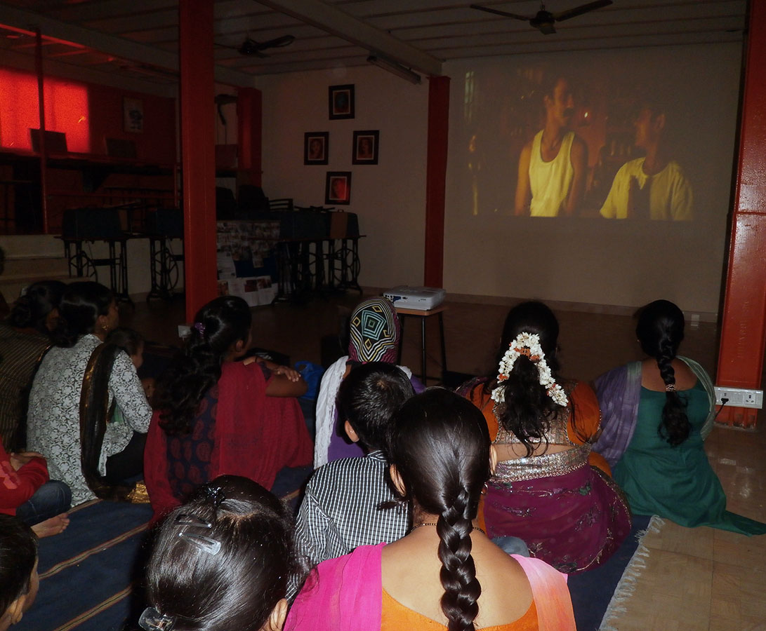The screening of the Hit Movie at Hamaara Sapna (August, 2014)