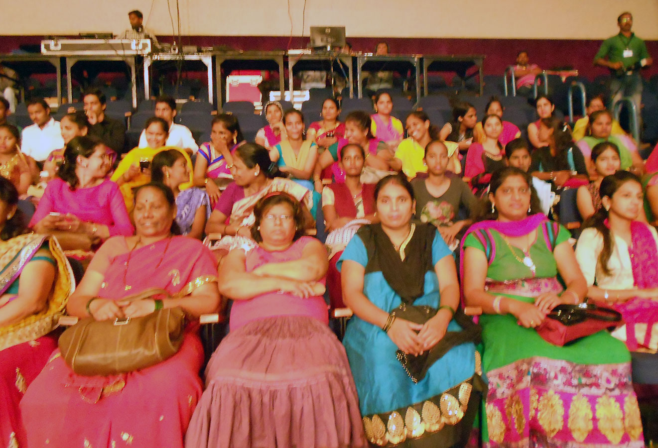 The beneficiaries being motivated and inspired by many speakers at the Jamnalal Bajaj Awards 2014 (November, 2014)