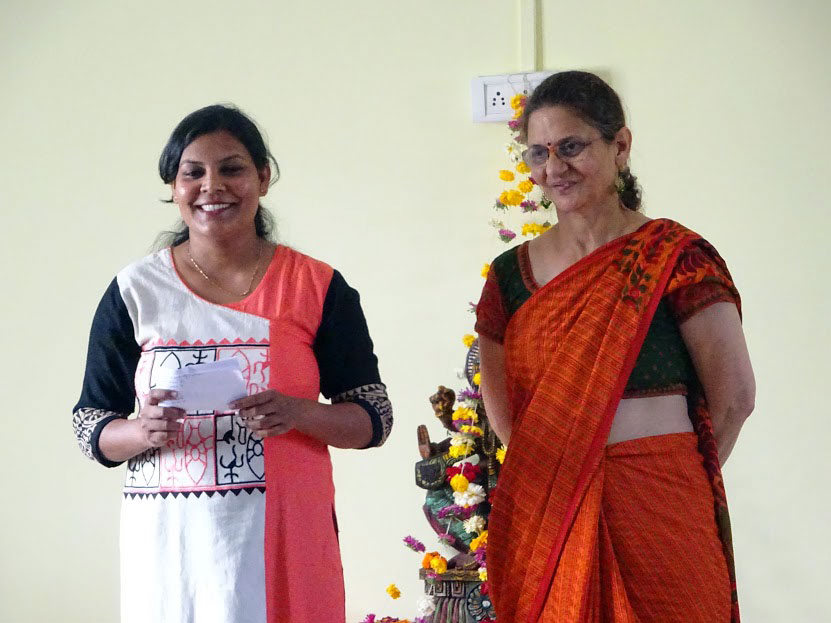 Project Director, Ms. Shobha and the Project Co-Ordinator at the Pune Centre