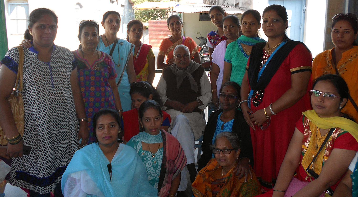 Beneficiaries having the privilege to listen to Principles of Gandhism and Gandhian thought by  Mr. Gautam Bajaj held on 27th February, 2012