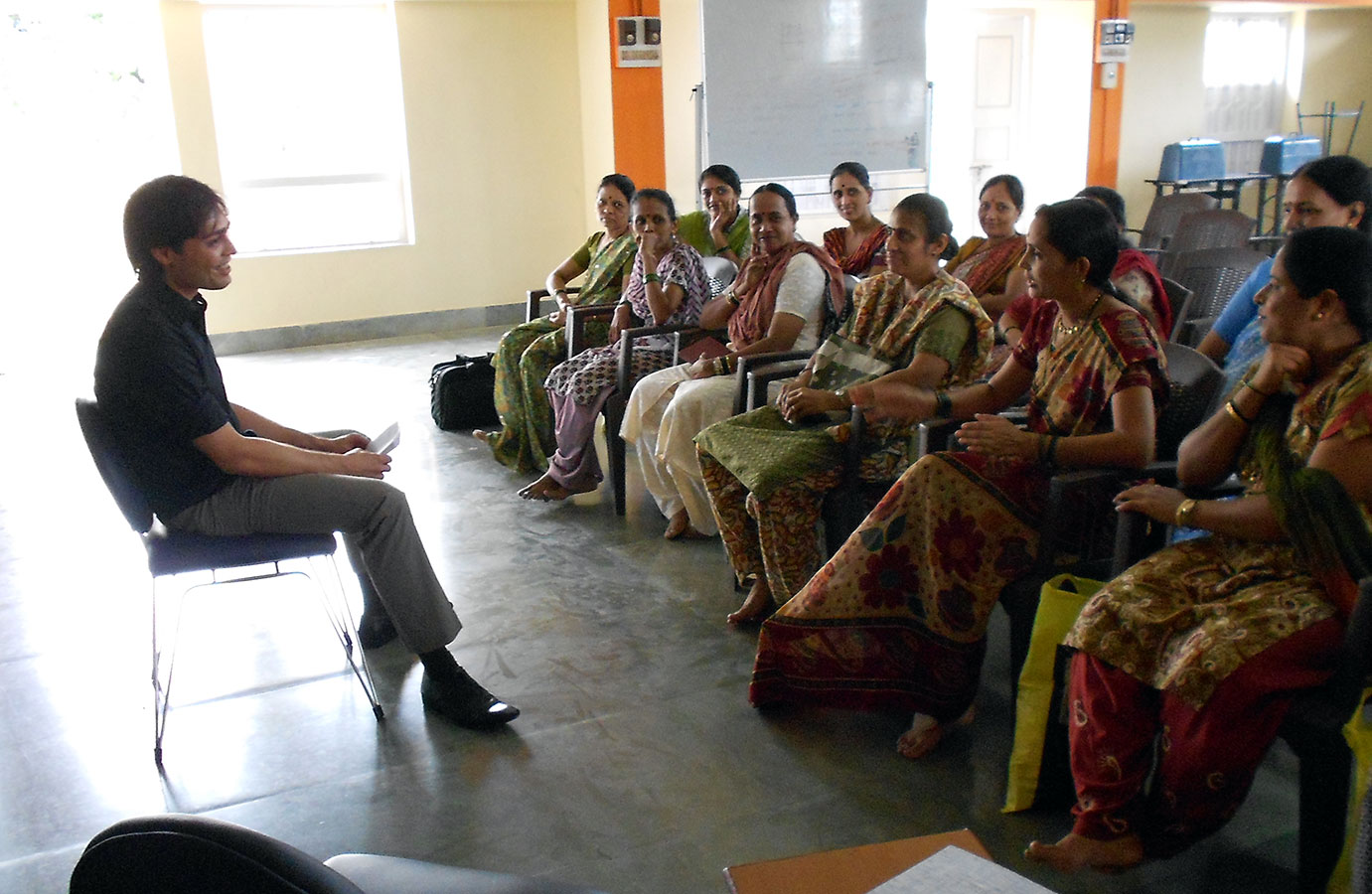 Mr. Vishal Gandhi explaining how to be perseverant and never give up (July, 2012)